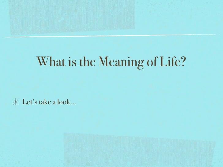 Value of Life presentation