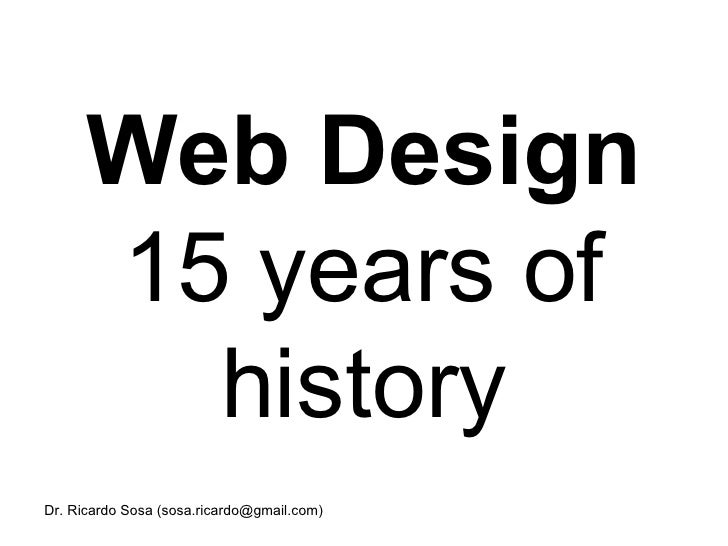 Web Design 15 years of history