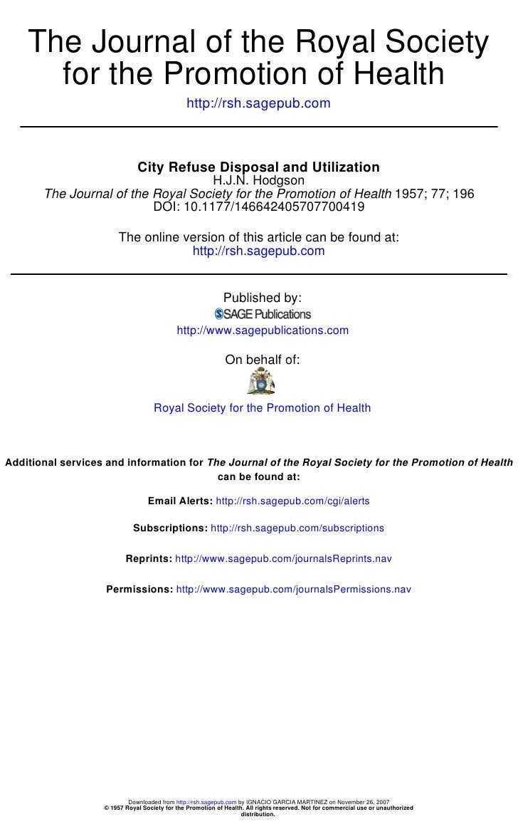 The Journal of the Royal Society       for the Promotion of Health                                                http://r...