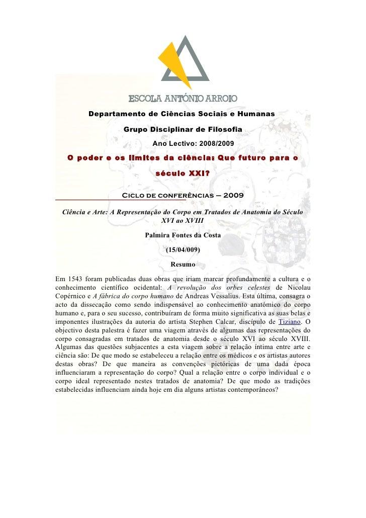 Departamento de Ciências Sociais e Humanas                         Grupo Disciplinar de Filosofia                         ...