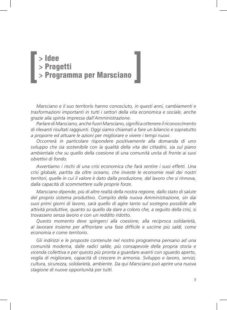 [                                                    ]     > Idee     > Progetti     > Programma per Marsciano      Marsci...