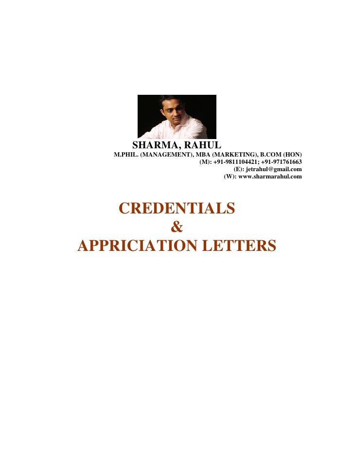 CREDENTIALS, CERTIFICATES, LETTERS OF APPRICIATION & LETTERS OF RECOGNITION BY THE RESPECATBLE PEOPLE FROM WITHIN THE INDUSRTY