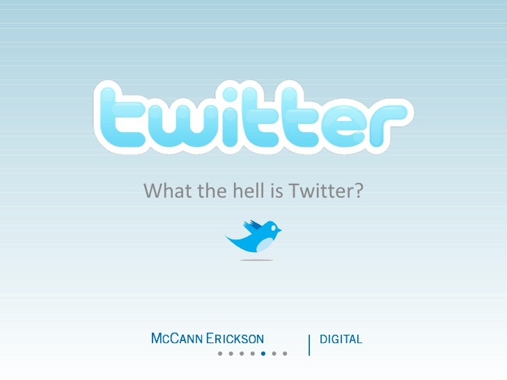 Twitter, some thoughts by McCann.be