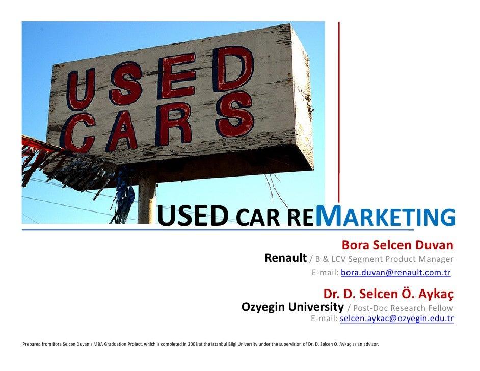 Used Car ReMarketing