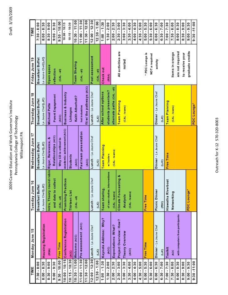 Working Document-2009 Gov Inst Planning