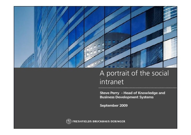 Portrait of the social intranet