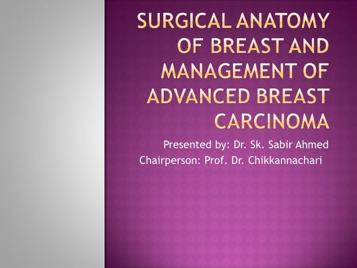 surgical anatomy of breast & management of advanced carcinoma breast