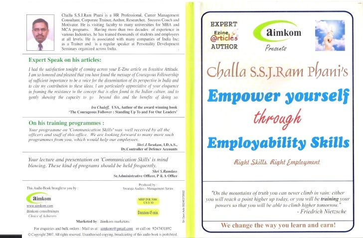 Creating Success for you! Empowering the job seekers through Employability Skills                                  *** Emp...