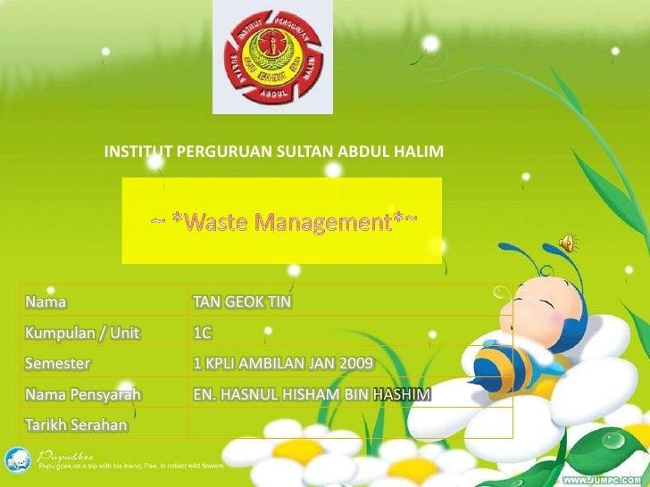 Waste Management