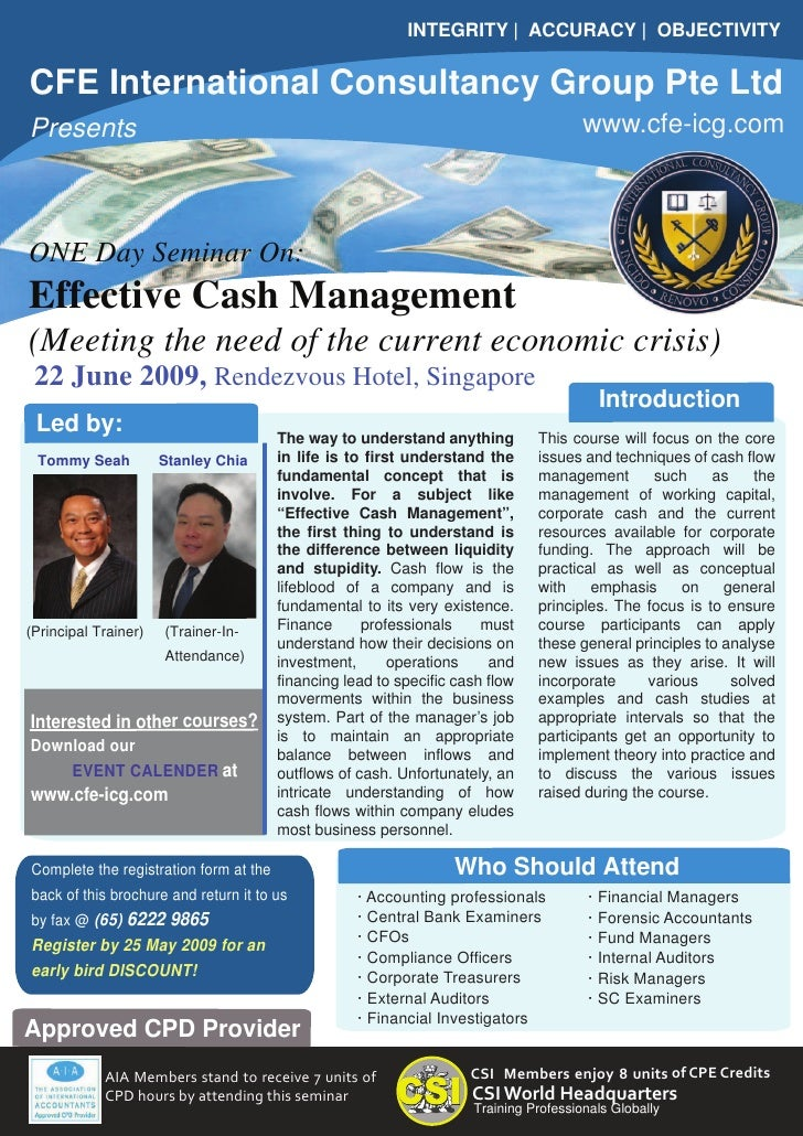 Effective Cash Management