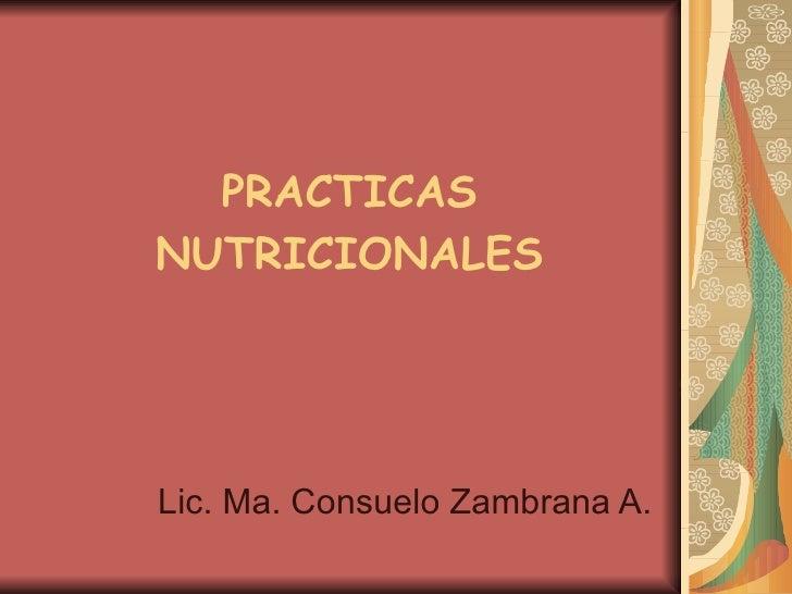 Prácticas Nutricionales