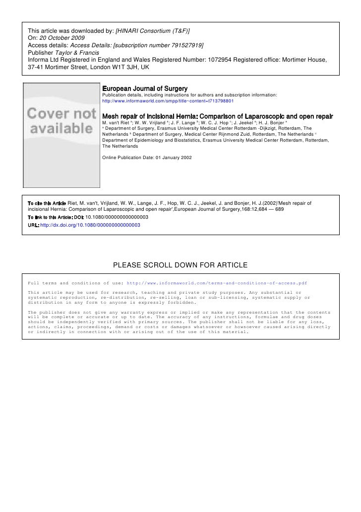 This article was downloaded by: [HINARI Consortium (T&F)] On: 20 October 2009 Access details: Access Details: [subscriptio...