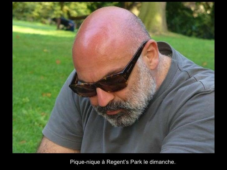 Pique-nique à Regent's Park le dimanche.