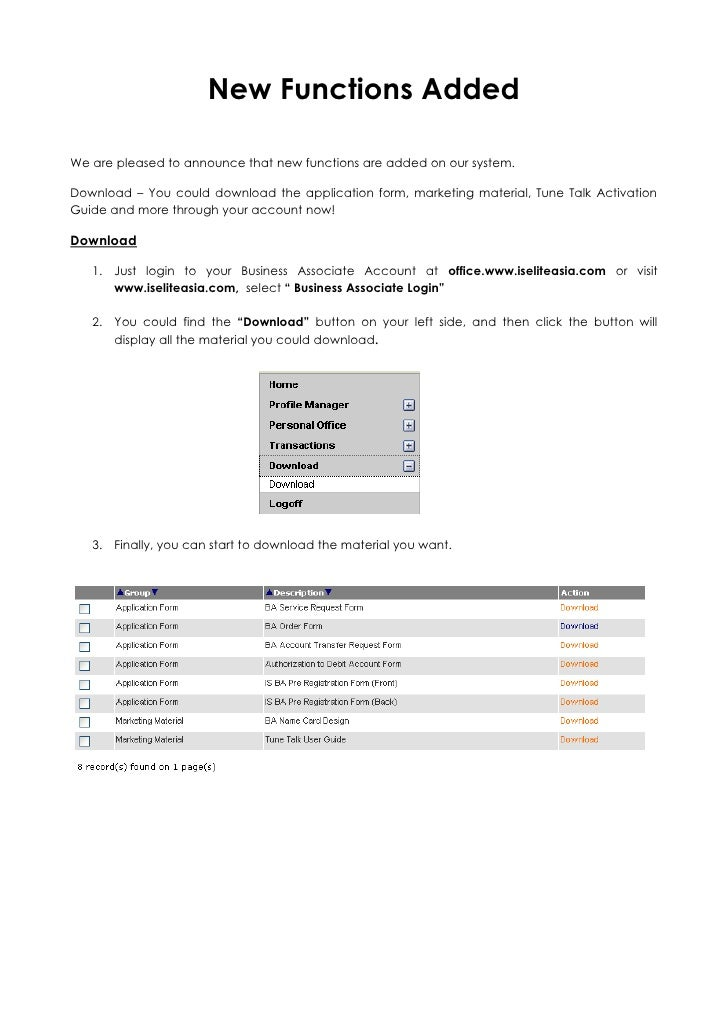 New Functions Added<br />We are pleased to announce that new functions are added on our system.<br />Download – You could ...