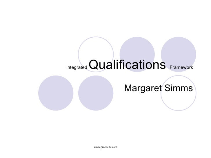 Integrated Qualifications Framework (IQF)