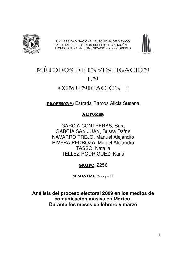 Análisis del Proceso Electoral 2009