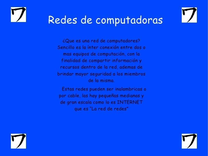 Redes de computadoras