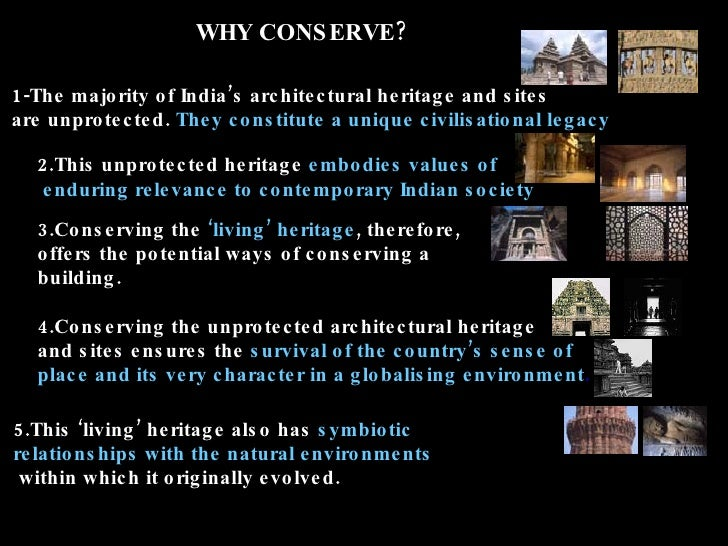 Conservation of Heritage Buildings