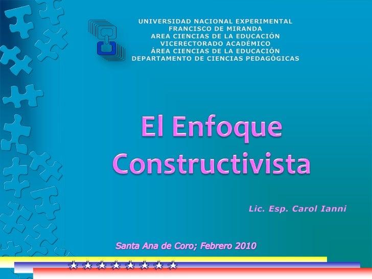 UNIVERSIDAD NACIONAL EXPERIMENTAL <br />FRANCISCO DE MIRANDA<br />AREA CIENCIAS DE LA EDUCACIÓN<br />VICERECTORADO ACADÉMI...