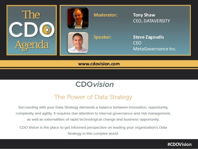 The Chief Data Officer's Agenda: The Need for Information Governance Controls