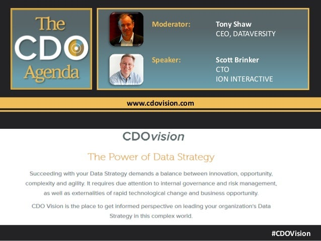 The Chief Data Officer's Agenda: The CDO-CMO Relationship - Data-Driven Marketing