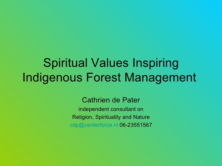 Cd Pater Indig For Mgt Lecture 1