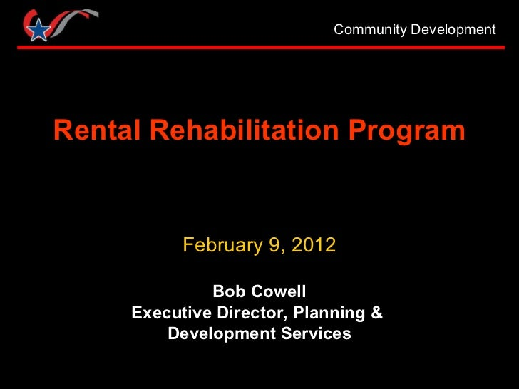 Rental Rehabilitation Program