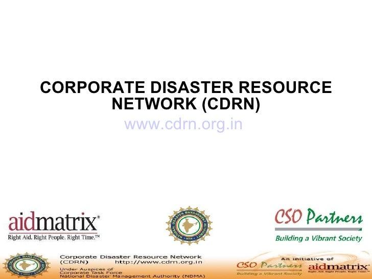 Cdrn Presentation  - Cso Workshop