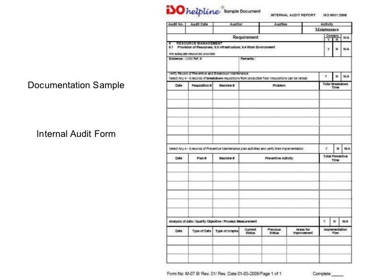 iso 9001 documentation formats for essays