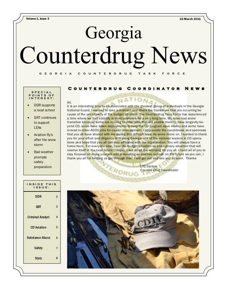 Counterdrug Newsletter: March 2011