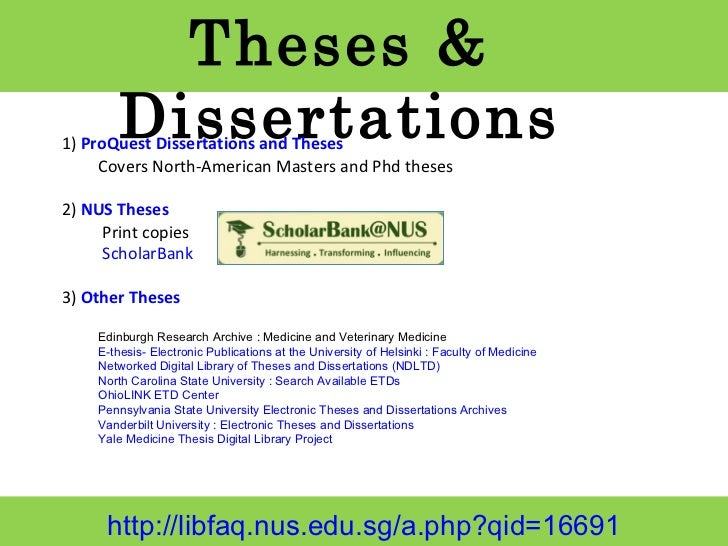 Us Phd Thesis Database