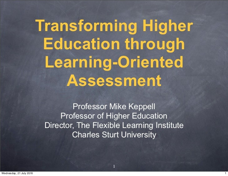 Transforming Higher                            Education through                            Learning-Oriented             ...