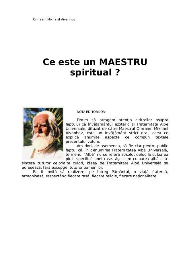 Ce este-un-maestru-spiritual-omraam-mikhael-aivanhov
