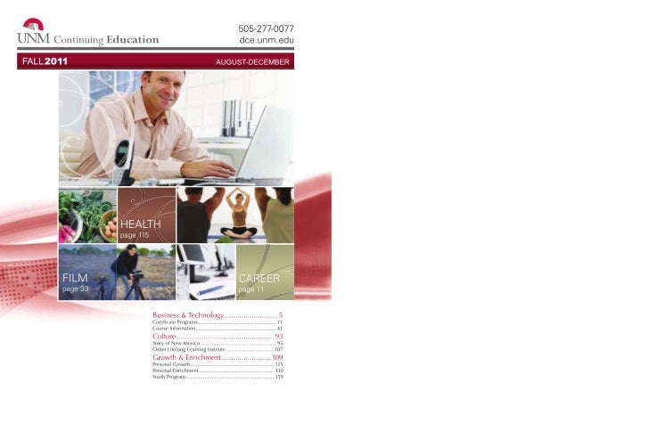 UNMCE Fall 2011 catalog