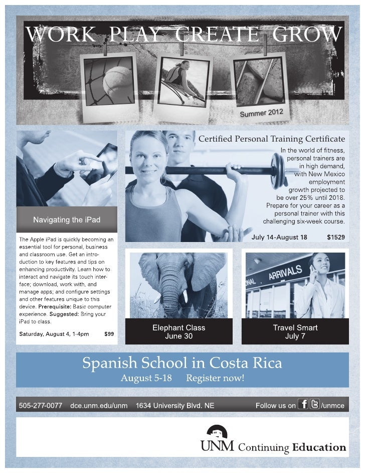 Summer 2012Certified Personal Training Certificate