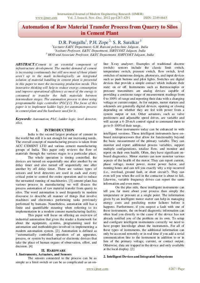 International Journal of Modern Engineering Research (IJMER)               www.ijmer.com        Vol. 2, Issue.6, Nov.-Dec....
