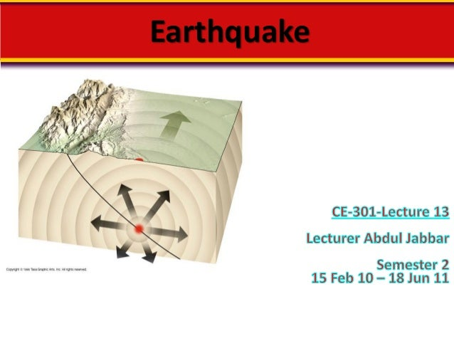 Earthquakes-In The Eye of Civil Engineer