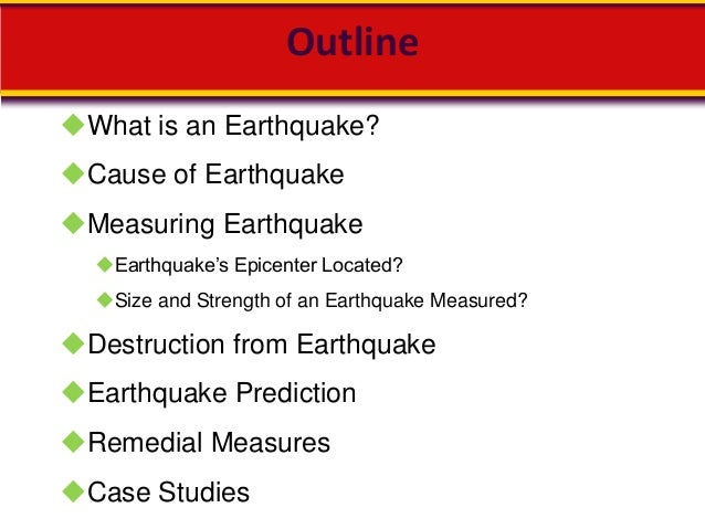 earthquake essay in english