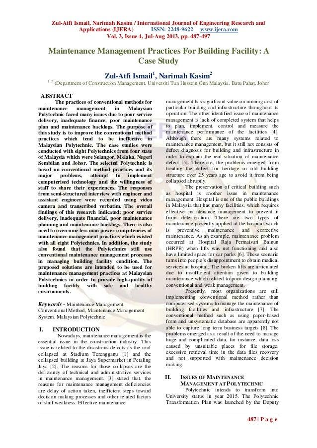 Zul-Atfi Ismail, Narimah Kasim / International Journal of Engineering Research and Applications (IJERA) ISSN: 2248-9622 ww...