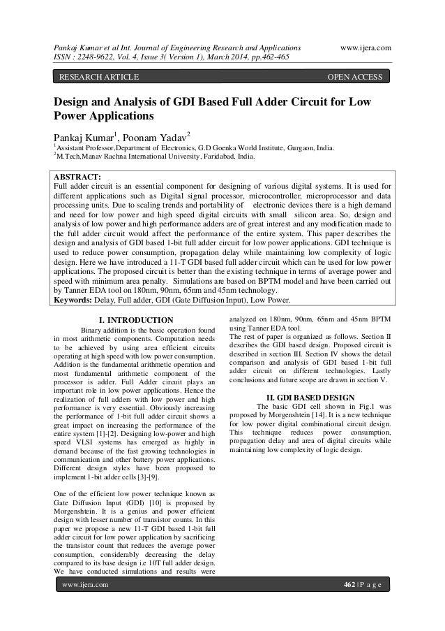 Pankaj Kumar et al Int. Journal of Engineering Research and Applications www.ijera.com ISSN : 2248-9622, Vol. 4, Issue 3( ...