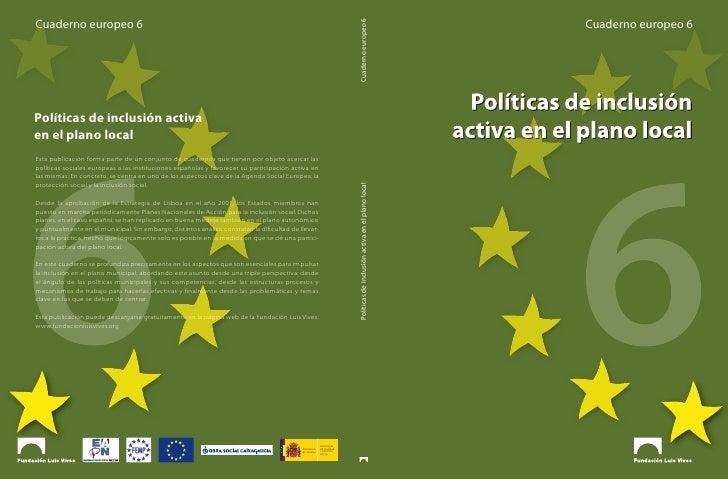 Cuaderno Europeo 6: Políticas de inclusión activas en el plano local