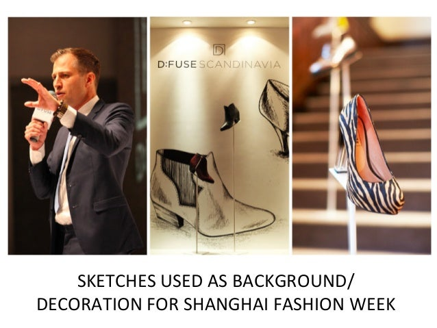 SKETCHES	   USED	   AS	   BACKGROUND/	    DECORATION	   FOR	   SHANGHAI	   FASHION	   WEEK