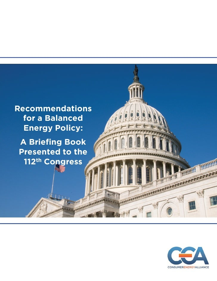 CEA 112th Congress Policy Recommendation