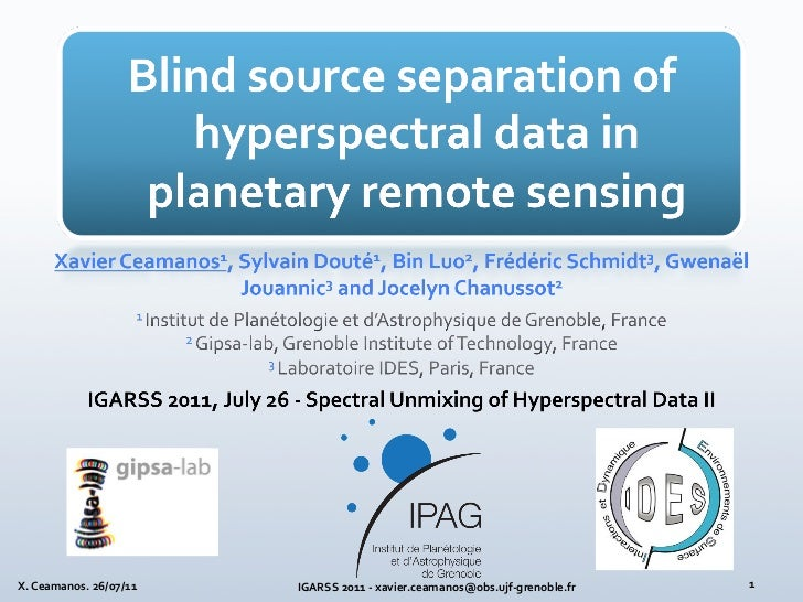 BLIND SOURCE SEPARATION OF HYPERSPECTRAL DATA IN PLANETARY REMOTE SENSING: ENDMEMBER EXTRACTION AND VALIDATION