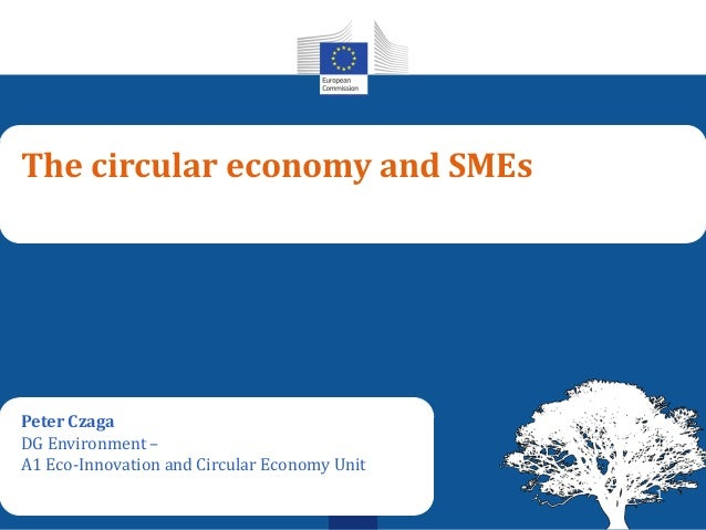 The circular economy and SMEs Peter Czaga DG Environment – A1 Eco-Innovation and Circular Economy Unit 1