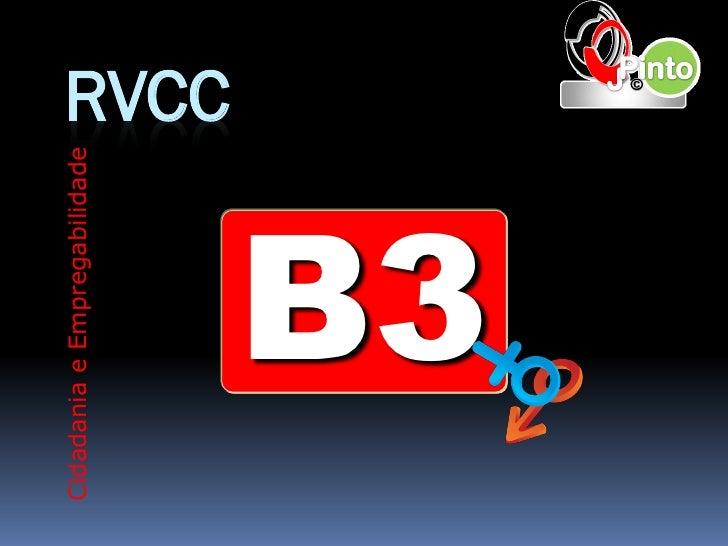 Cidadania e Empregabilidade                              RVCC        B3