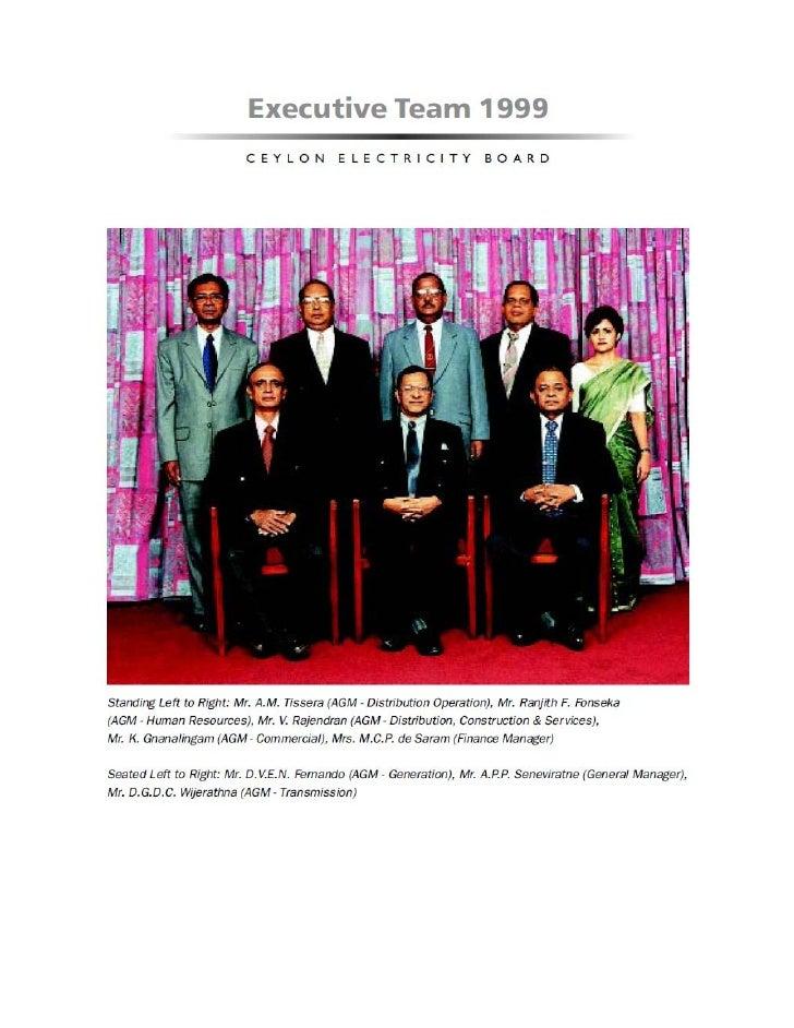 CEB Executive Team 1999