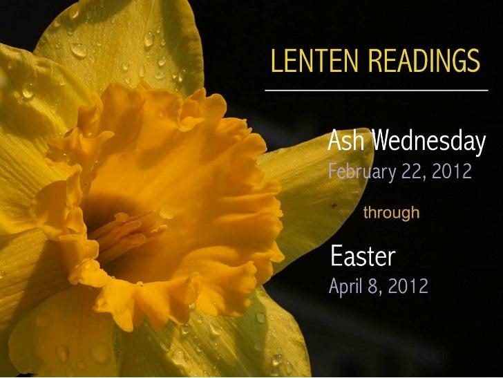 The Common English Bible - Lenten Readings