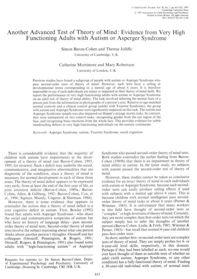 J. Child Psychol. Psychiat. Vol. 38, No. 7, pp. 813-822, 1997Cambridge University Press© 1997 Association for Child Psycho...