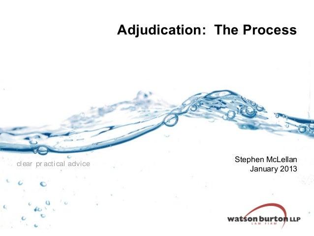 Ceca   adjudication  the process - january 2013